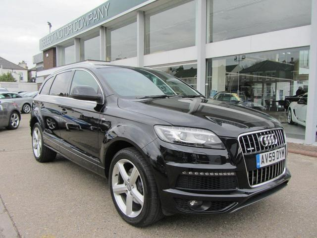 used black audi q7 2009 diesel 3 0 tdi quattro s 4x4. Black Bedroom Furniture Sets. Home Design Ideas