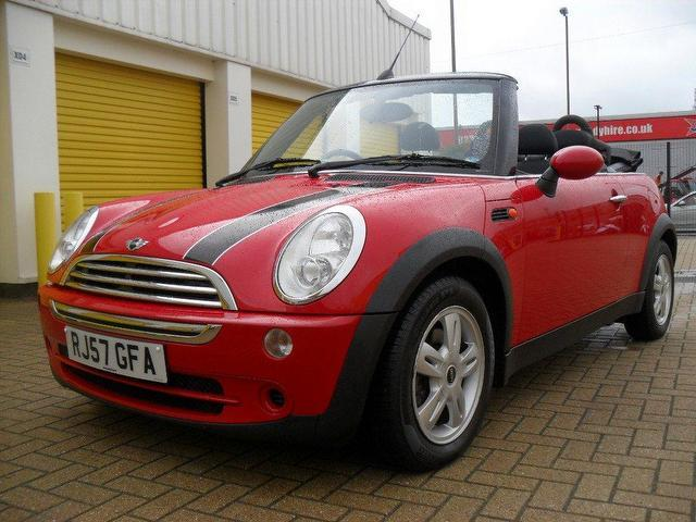 used mini 1 6 2007 petrol cooper 2dr convertible red with alloy wheels for sale autopazar. Black Bedroom Furniture Sets. Home Design Ideas