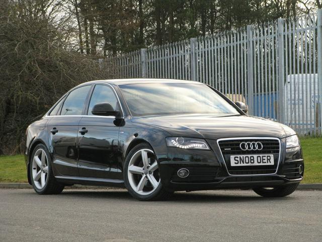 used audi a4 2008 diesel 3 0 tdi quattro s saloon black. Black Bedroom Furniture Sets. Home Design Ideas