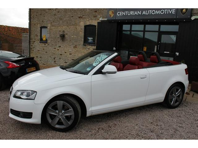 used 2008 audi a3 convertible white edition 2 0 t fsi sport petrol for sale in kettering uk. Black Bedroom Furniture Sets. Home Design Ideas