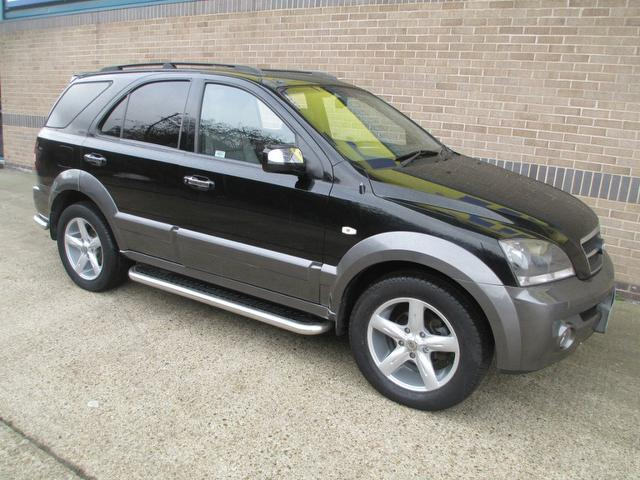 used kia sorento car 2005 black diesel 2 5 crdi xse 5 door 4x4 for sale in norwich uk autopazar. Black Bedroom Furniture Sets. Home Design Ideas