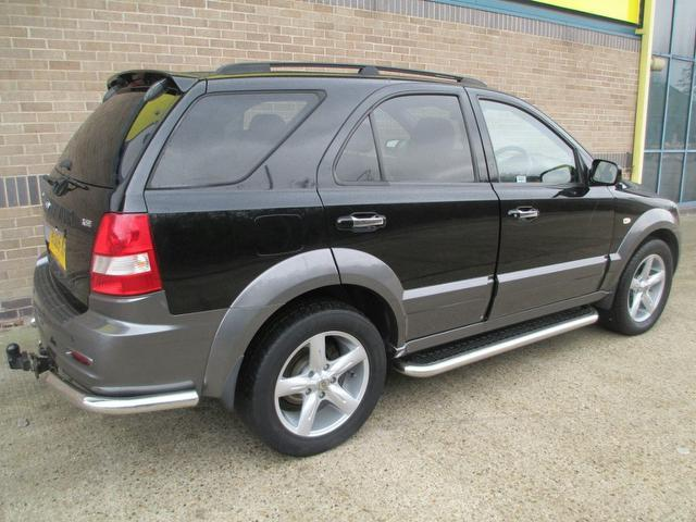 used kia sorento car 2005 black diesel 2 5 crdi xse 5 door. Black Bedroom Furniture Sets. Home Design Ideas
