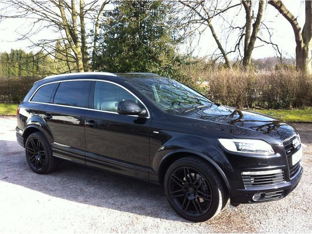 used audi q7 2006 black colour diesel 3 0 tdi quattro s 4x4 for sale in stoke on trent uk. Black Bedroom Furniture Sets. Home Design Ideas