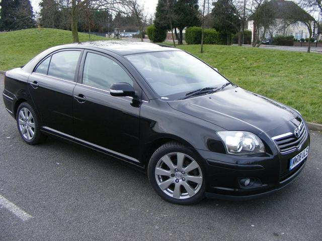 Used Toyota Avensis 2008 Black Saloon Diesel Manual for Sale