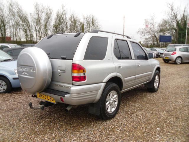 used 2003 vauxhall frontera estate silver edition 2 2 dti limited olympus diesel for sale in. Black Bedroom Furniture Sets. Home Design Ideas