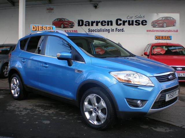 used blue ford kuga 2008 diesel 2 0 tdci zetec 5dr estate. Black Bedroom Furniture Sets. Home Design Ideas