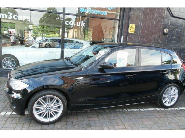 used bmw 1 series 2006 petrol 116i es 5dr hatchback black manual for sale in stockport uk. Black Bedroom Furniture Sets. Home Design Ideas