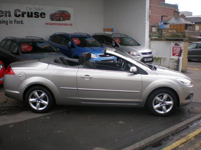 used ford focus 2008 petrol 1.6 cc argento 2dr convertible silver