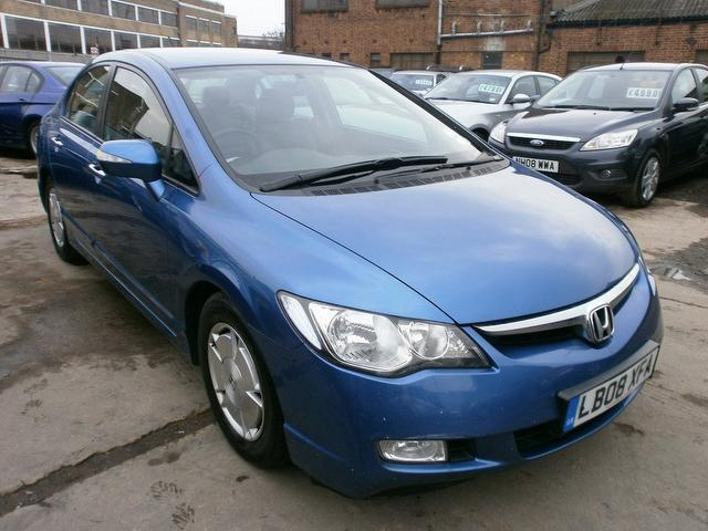 used blue honda civic 2008 hybrid 1 4 i dsi es 4dr saloon in great condition for sale autopazar. Black Bedroom Furniture Sets. Home Design Ideas