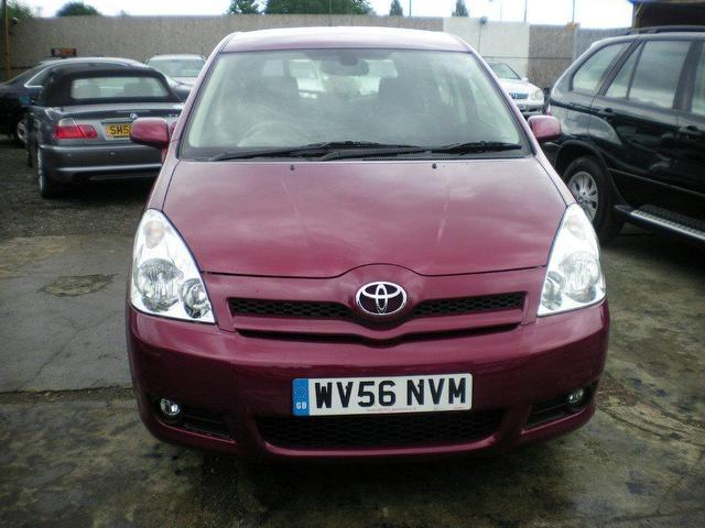 used toyota corolla 2006 petrol verso 1 8 vvt i t3 estate red manual for sale in wembley uk. Black Bedroom Furniture Sets. Home Design Ideas