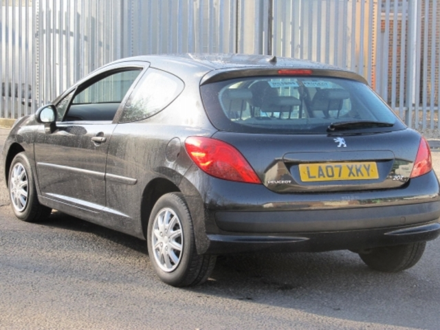 Used Peugeot 207  Black 2007 Petrol for Sale in UK