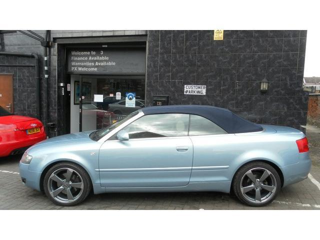 used audi a4 2003 model sport 2dr petrol convertible blue for sale in stockport uk autopazar. Black Bedroom Furniture Sets. Home Design Ideas