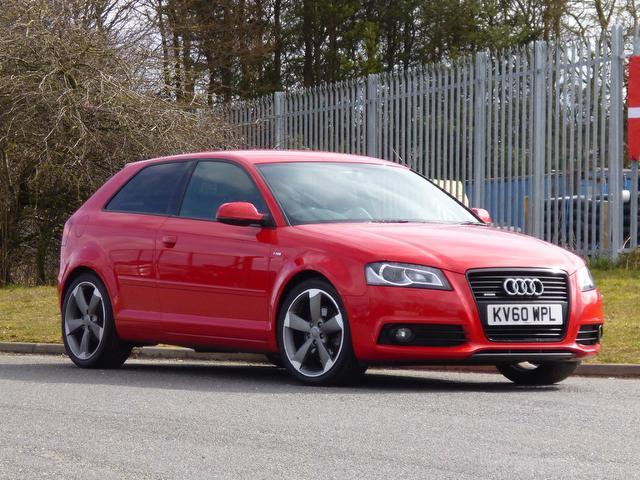 used red audi a3 2010 diesel 2 0 tdi 170 quattro hatchback. Black Bedroom Furniture Sets. Home Design Ideas