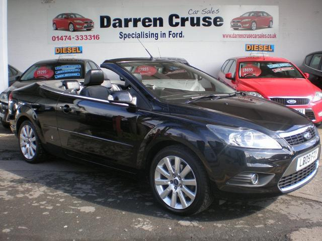used black ford focus 2009 petrol 2.0 cc-3 2dr auto convertible