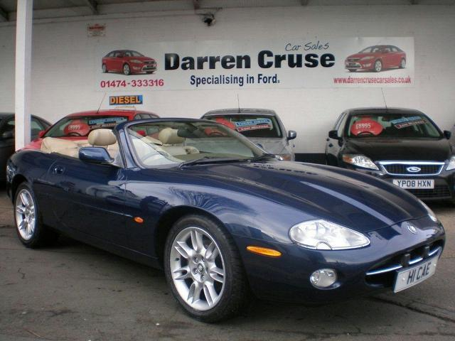 used jaguar xk 2002 blue colour petrol 4 0 2 door auto convertible for sale in gravesend uk. Black Bedroom Furniture Sets. Home Design Ideas