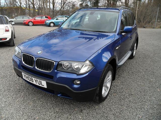 used bmw x3 2008 model se 5dr step diesel 4x4 blue for sale in inveralmond place uk autopazar. Black Bedroom Furniture Sets. Home Design Ideas