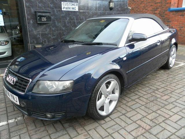 used audi a4 2 5 2004 diesel tdi 163 sport convertible blue manual for sale in stockport uk. Black Bedroom Furniture Sets. Home Design Ideas