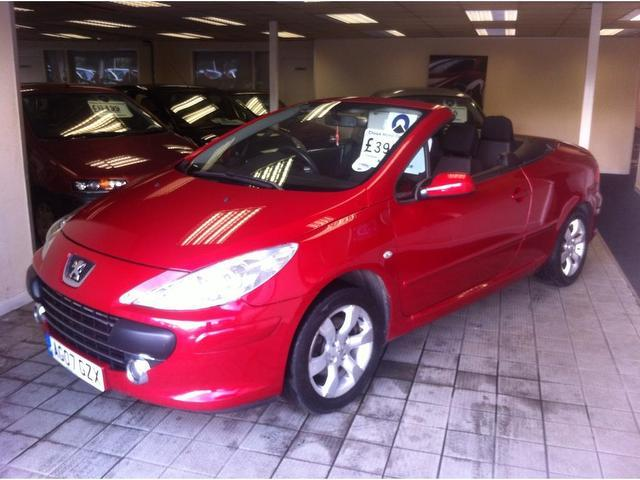 Used Peugeot 307 2007 Red Convertible Petrol Manual for Sale