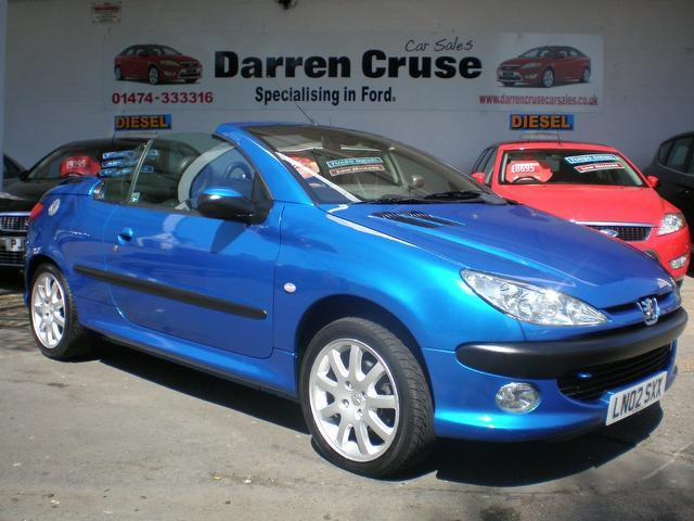 used peugeot 206 2002 blue colour petrol 2 0 se 2 door full convertible for sale in gravesend uk. Black Bedroom Furniture Sets. Home Design Ideas