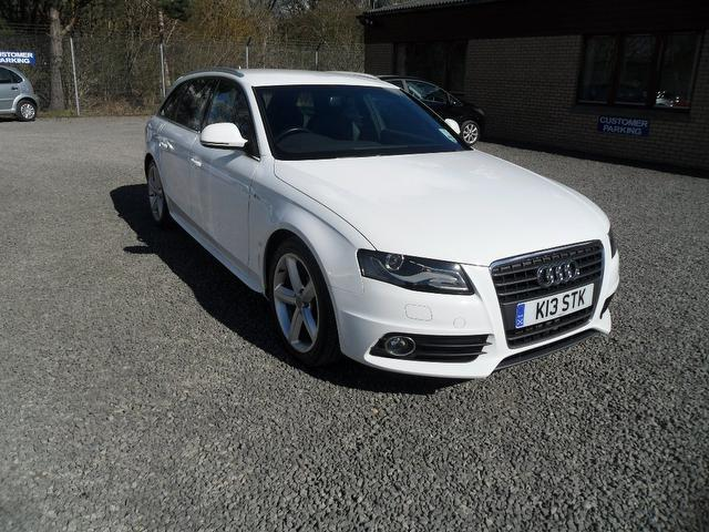 used 2008 audi a4 estate white edition 2 0 tdi 143 s diesel for sale in inveralmond place uk. Black Bedroom Furniture Sets. Home Design Ideas