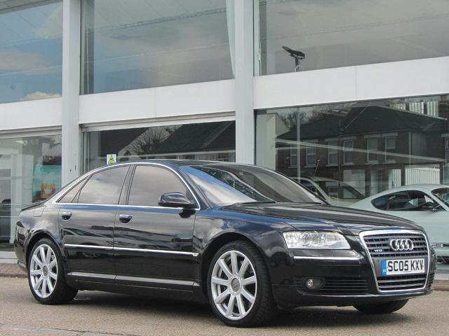 used audi a8 2005 petrol 6 0 w12 quattro 4dr saloon black with car immobiliser for sale autopazar. Black Bedroom Furniture Sets. Home Design Ideas