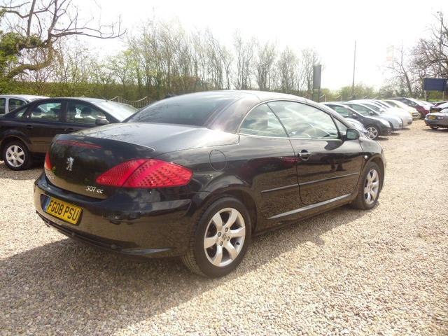 Used Peugeot 307 1.6 S 2 Door With Convertible Black 2008 Petrol for Sale in UK