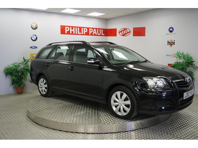 Used Toyota Avensis 2007 Black Estate Diesel Manual for Sale