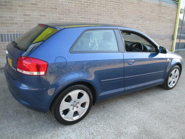 used audi a3 2005 diesel 2 0 tdi sport 3dr hatchback blue with full service history for sale. Black Bedroom Furniture Sets. Home Design Ideas