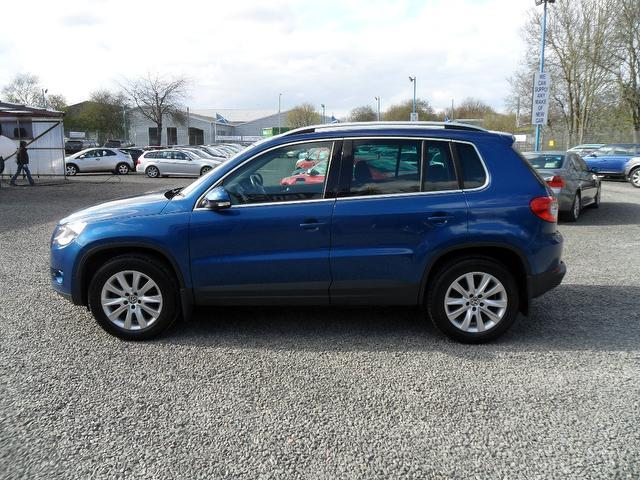 used volkswagen tiguan 2008 blue colour diesel 2 0 tdi se. Black Bedroom Furniture Sets. Home Design Ideas