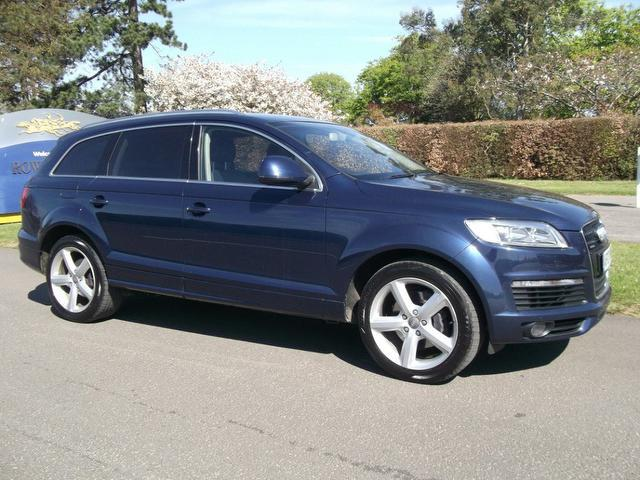 used audi q7 2007 blue colour diesel 3 0 tdi quattro s 4x4 for sale in newmarket uk autopazar. Black Bedroom Furniture Sets. Home Design Ideas