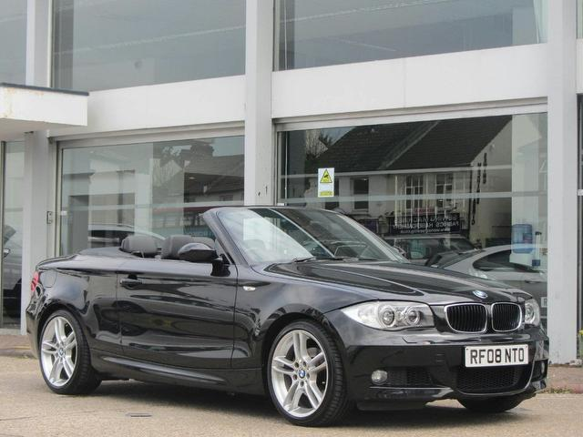 Used bmw 1 series 2008 model 125i m sport petrol convertible black for sale in sevenoaks uk - Black bmw 1 series coupe ...