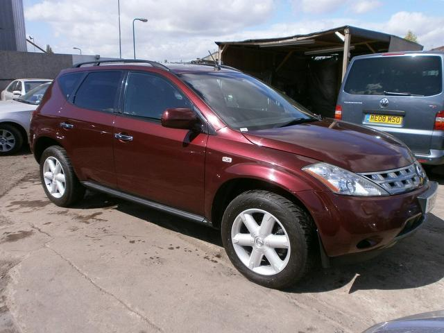used nissan murano car 2005 red petrol 3 5 v6 5 door cvt 4x4 for sale in wembley uk autopazar. Black Bedroom Furniture Sets. Home Design Ideas