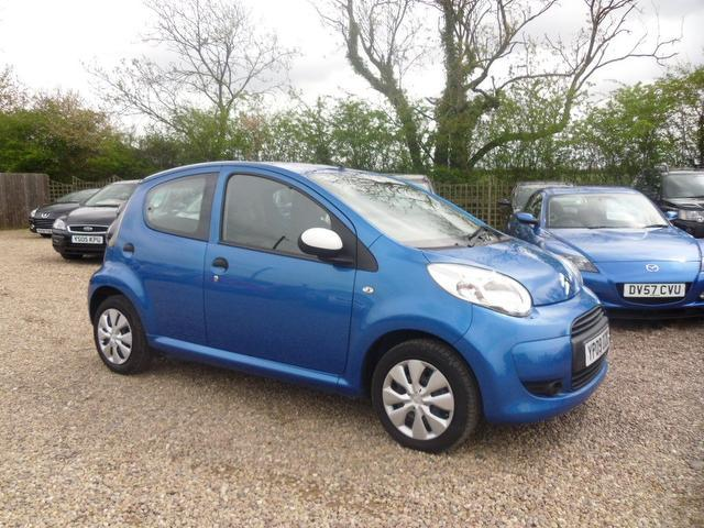 used citroen c1 2009 petrol splash 5dr air hatchback blue with electric windows for sale. Black Bedroom Furniture Sets. Home Design Ideas
