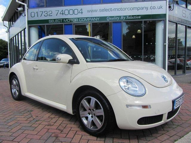 used volkswagen beetle 2008 petrol 1 6 luna 3dr air hatchback beige manual for sale in sevenoaks. Black Bedroom Furniture Sets. Home Design Ideas