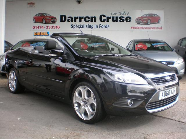 used ford focus 2010 black paint petrol 2.0 cc-2 2dr convertible for