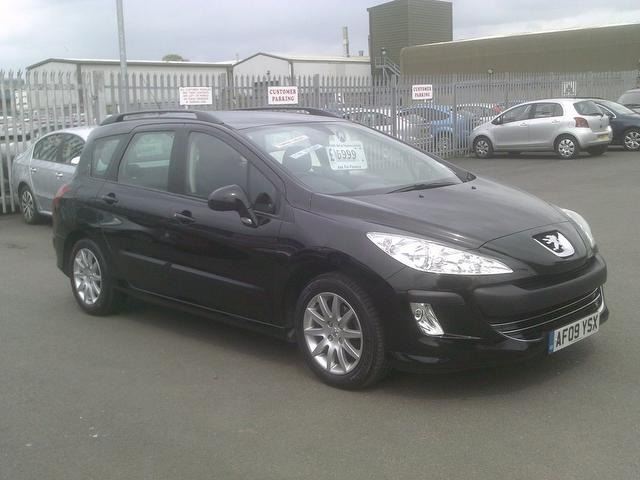 used peugeot 308 2009 black paint diesel 1 6 hdi 110 s. Black Bedroom Furniture Sets. Home Design Ideas