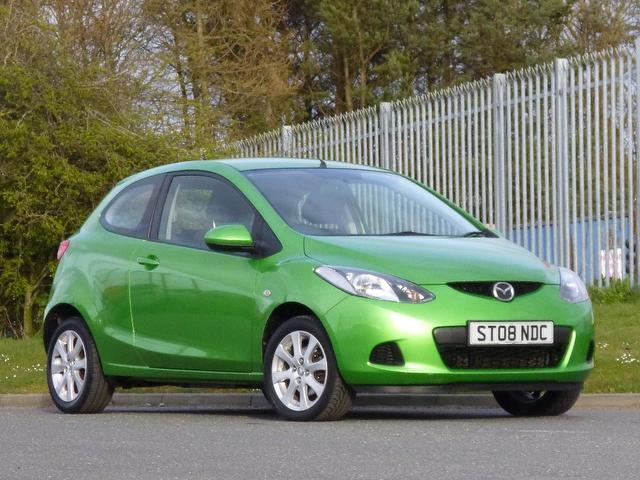 used mazda mazda2 2008 green paint petrol 1 3 ts2 3dr hatchback for sale in turrif uk autopazar. Black Bedroom Furniture Sets. Home Design Ideas