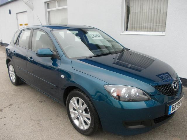 used mazda mazda3 2008 petrol 1 6 ts2 5dr full hatchback blue edition for sale in wirral uk. Black Bedroom Furniture Sets. Home Design Ideas