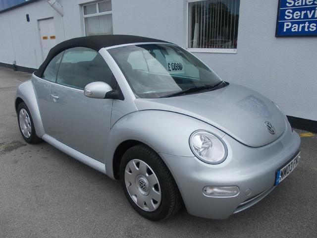 used volkswagen beetle 2003 petrol 1 6 2dr convertible silver edition for sale in wirral uk. Black Bedroom Furniture Sets. Home Design Ideas