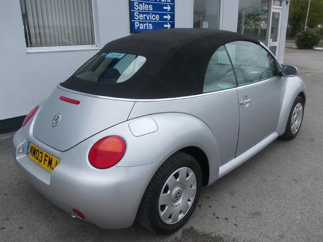 Used Volkswagen Beetle 2003 Petrol 1.6 2dr Convertible Silver Edition For Sale In Wirral Uk ...