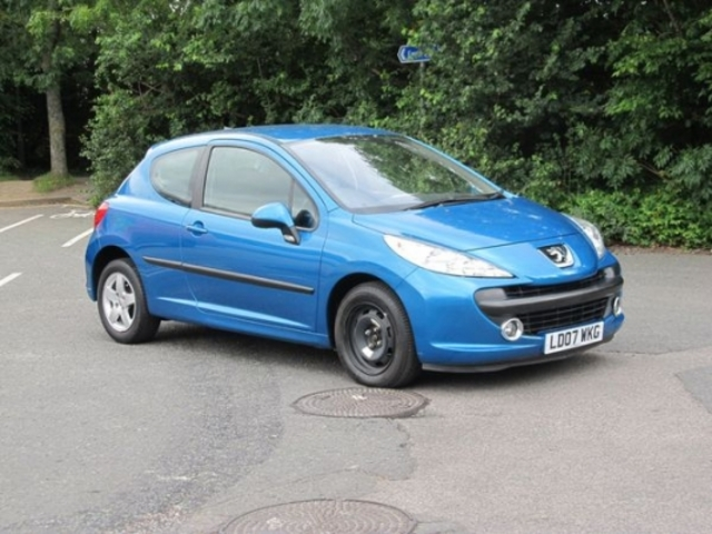 used peugeot 207 2007 petrol blue manual for sale in epsom. Black Bedroom Furniture Sets. Home Design Ideas