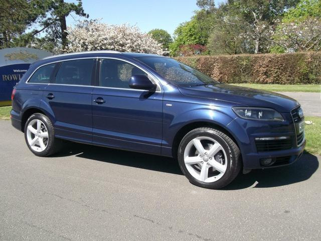 used audi q7 2008 blue colour diesel 3 0 tdi quattro 240 4x4 for sale in newmarket uk autopazar. Black Bedroom Furniture Sets. Home Design Ideas