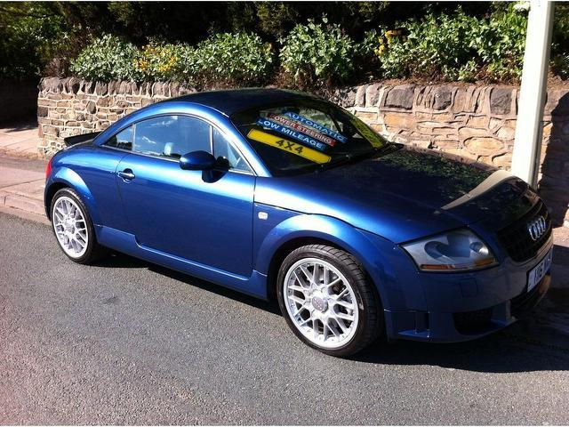 used audi tt car 2003 blue petrol 3 2 v6 quattro 2 door coupe for sale in stoke on trent uk. Black Bedroom Furniture Sets. Home Design Ideas