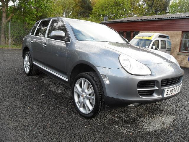 used porsche cayenne 2003 silver colour petrol s 5 door tiptronic 4x4 for sale in inveralmond. Black Bedroom Furniture Sets. Home Design Ideas