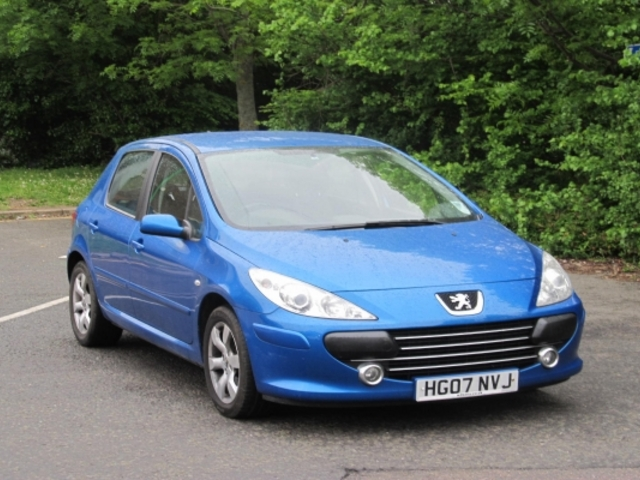 used peugeot 307 2007 petrol blue with for sale   autopazar