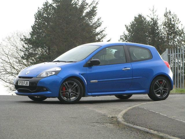 used renault clio 2010 petrol 2 0 16v renaultsport 200 hatchback blue manual for sale in turrif. Black Bedroom Furniture Sets. Home Design Ideas