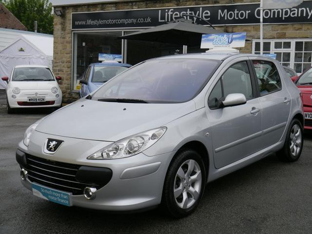 used peugeot 307 2007 automatic petrol 1 6 s 5 door auto silver for sale uk autopazar