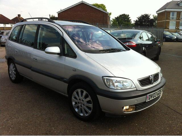 used vauxhall zafira 2003 petrol elegance 5dr auto estate silver automatic for sale in. Black Bedroom Furniture Sets. Home Design Ideas