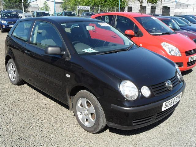used black volkswagen polo 2004 petrol 1 2 e 55 3dr hatchback in great condition for sale. Black Bedroom Furniture Sets. Home Design Ideas