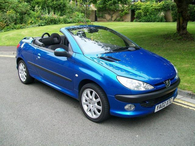 used peugeot 206 2002 petrol 2 0 se 2dr convertible blue manual for sale in keynsham uk autopazar. Black Bedroom Furniture Sets. Home Design Ideas